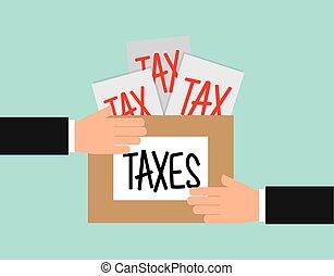 tax liability design, vector illustration eps10 graphic