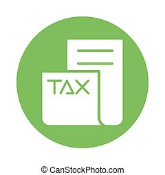 tax obligation document isolated icon vector illustration design