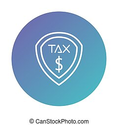 tax obligation shield degraded style vector illustration design