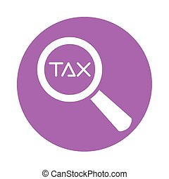 tax obligation with magnifying glass vector illustration design