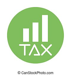tax obligation with statistics bars vector illustration design