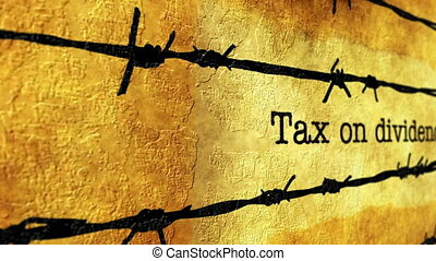 Tax on dividents grunge concept