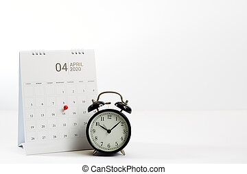 Tax payment day April 15 2020 marked a calendar on white ...