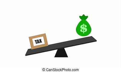 tax payment related - balance with bag money and tax payment