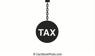 tax payment related - ceiling chained shackle tax payment