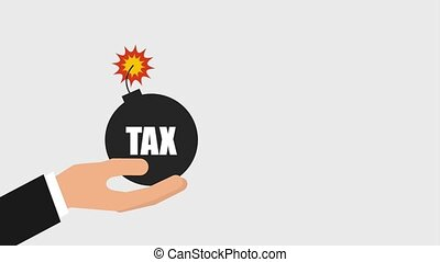 tax payment related - hand holding bomb tax payment