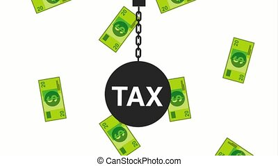 tax payment related - hanging shackle tax payment forms...