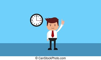 tax payment related - tax auditor pointing clock time taxes...