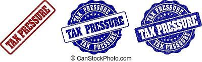 TAX PRESSURE Grunge Stamp Seals
