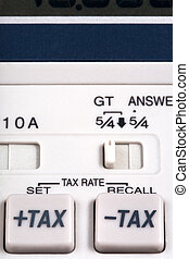 tax rate  buttons on calculator