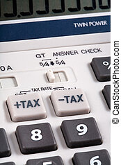 Tax rate buttons on calculator - Tax rate grey buttons on...