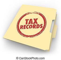 Tax Records Manila Folder Stamp Audit Documents FIle - Tax...