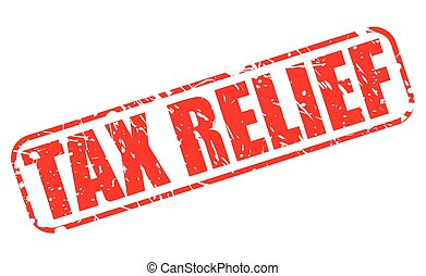 TAX RELIEF red stamp text on white
