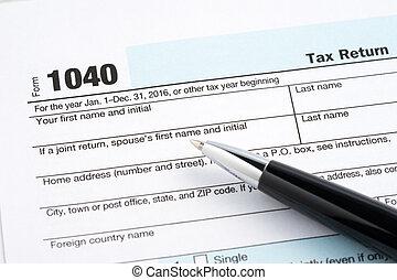 Tax return blank