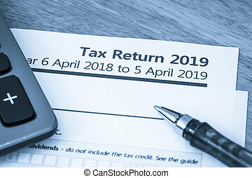 Tax return form UK 2019