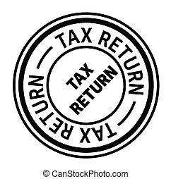 tax return rubber stamp