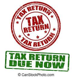 Tax return grunge rubber stamps, vector illustration
