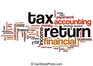 Tax return word cloud concept