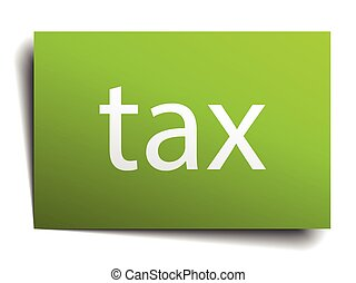tax square paper sign isolated on white