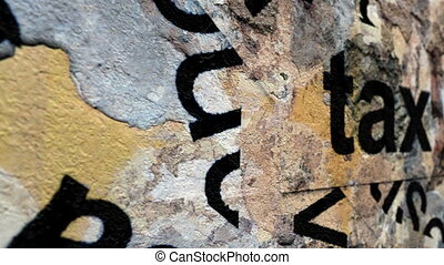 Tax tag on grunge background