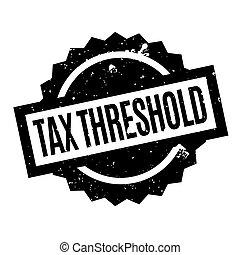Tax Threshold rubber stamp. Grunge design with dust...