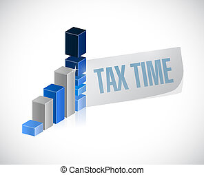 tax time business graph sign illustration design