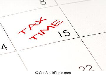 tax time, calendar, 15th