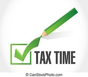 tax time check mark sign illustration design
