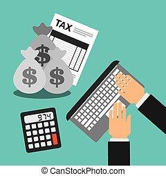 tax time design - tax time design, vector illustration eps10...