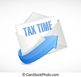 tax time email sign illustration design