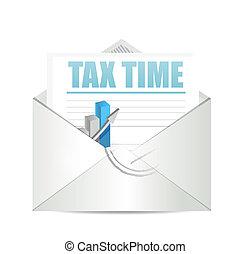tax time envelope mail sign illustration