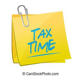 tax time memo sign illustration design