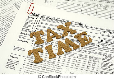 Tax Time - Photo of Tax Related Forms - Tax Related