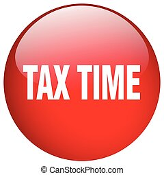 tax time red round gel isolated push button