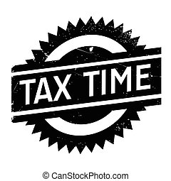 Tax time stamp. Grunge design with dust scratches. Effects ...