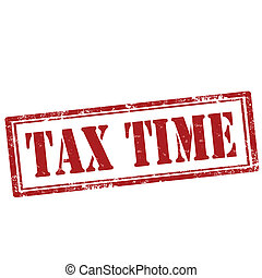 Tax Time-stamp - Grunge rubber stamp with text tax...