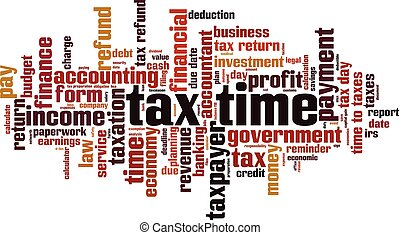 Tax time word cloud