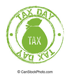 tax vector - tax seal over white background. vector...
