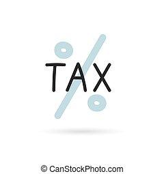 tax word concept- vector illustration