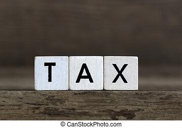 Tax, written in cubes