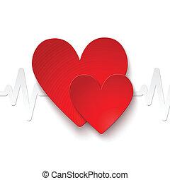taxa coração, emblema