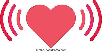 taxa coração, isolado, experiência., forma, vetorial, desenho, branca, ícone