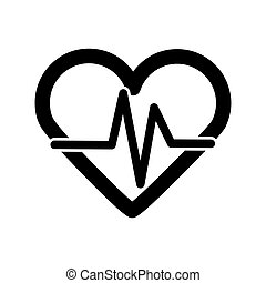 taxa coração, vetorial, ícone