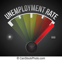 taxa, desemprego, desenho, ilustração, nível
