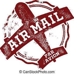 taxa postal, correio aéreo, marca