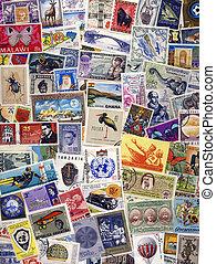 taxa postal, mundo, selos