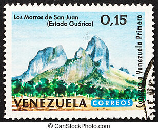 taxa postal, san, selo, juan, guarico, 1964, venezuela, picos