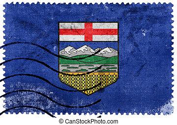 taxa postal, selo velho, bandeira, alberta canadá, província