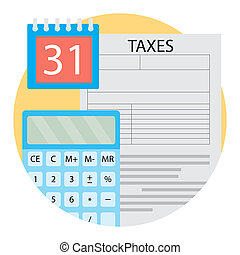 Taxation Day icon vector