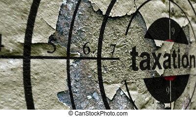 Taxation grunge target